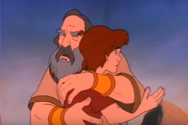Анимированные истории из Библии - Авраам и Исаак (кадр из фильма)