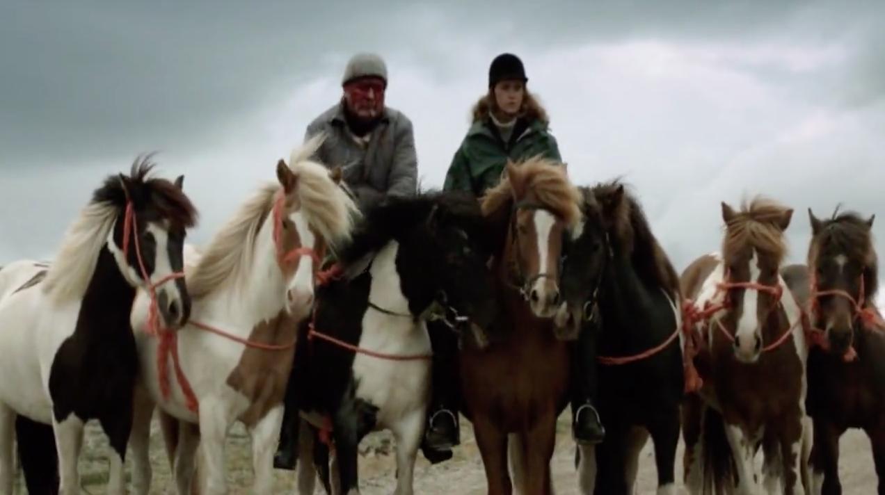 Кадр из фильма О лошадях и людях (2013)  на сайте о лучших фильмах и сериалах Устрица