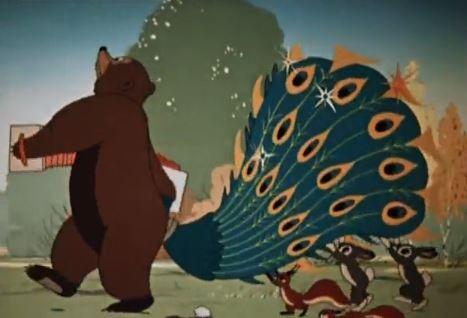 Мультфильм Павлиний хвост. Кадр из мультфильма